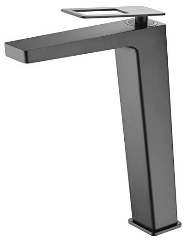 Grifo de lavabo caño alto Imex Suecia Negro BDC032-3NG