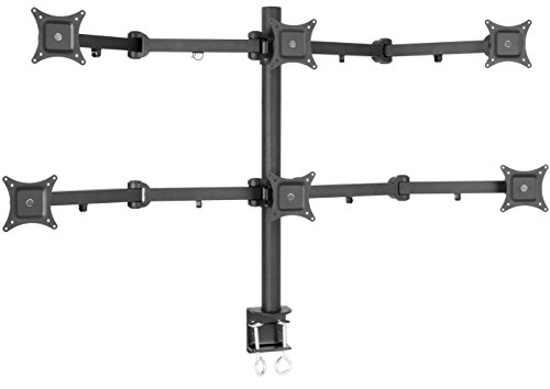 VIVO Steel Hex 23 to 32 inch LED LCD Computer Monitor, Heavy Duty Desk Mount, Fully Adjustable...