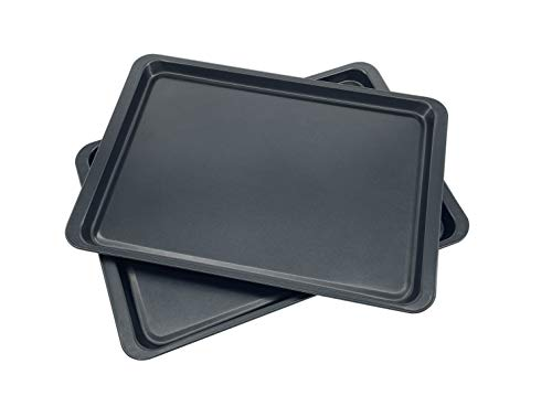 2 Pack Baking Pan Cookie Sheet Oven Pan Non-Stick rectanlge size 14 x 10-Inch