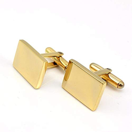 Icufflink Hombres Acero Inoxidable Gemelos, High-End Metal Cuff Botón Macho Simple Proximidad,...