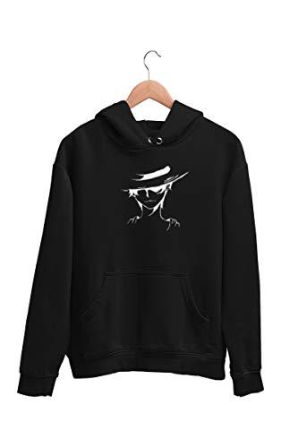 Blusa Moletom Casaco One Piece Luffy Unissex Preto Tamanho:G