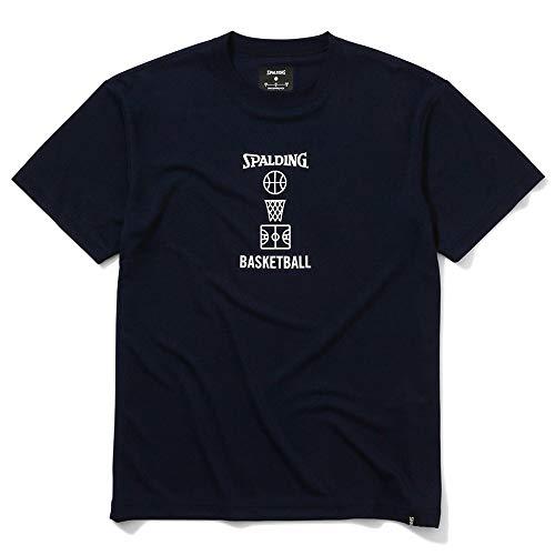 SPALDING(スポルディング) バスケットボール Tシャツ バスケットボールモチーフ SMT200400 ネイビー XLサイズ バスケ バスケット