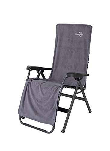 Bo-Camp - Housse de chaise L - Universel - Tissu éponge - Gris clair