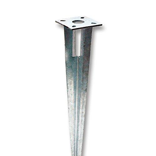 Bodenhülse Einschlaghülse mit Kopfplatte Pfostenträger für Rundpfosten 38 mm Ø, Länge 75 cm 2. WAHL