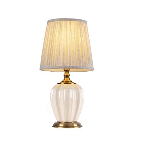 WYH Luz Mesa de Noche Cerámica lámpara de Mesa lámpara de Mesa de Asia Escritorio Lámpara de cerámica de cerámica Shade Empire Templo de la Sala de Estar Familiar Dormitorio Regalo LED Lámpara
