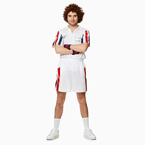John McEnroe 80s Tennis Player Costume, Red White and Blue