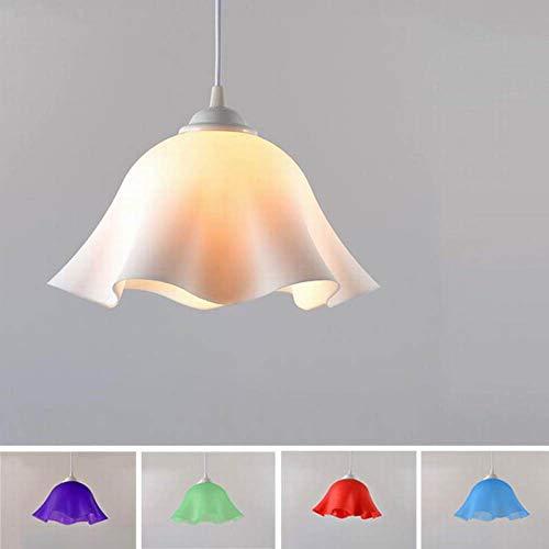 Moderne led-hanglamp van kunststof E27 oogschaduw bloem restaurant bar café eetkamer badkamer hanglamp