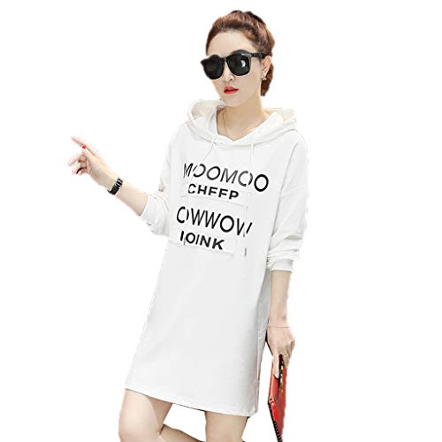 Mujin jurk met lange mouwen voor dames, casual, drawstring, T-shirt met kraag, bustier