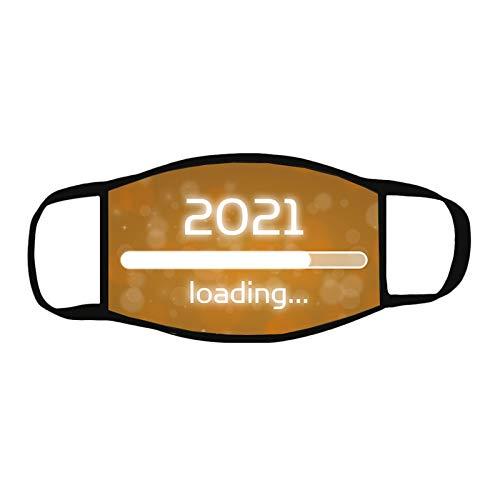 NN/A Mundschutz 2021 Neujahr Waschbar Atmungsaktiv Bunt Motiv Mund und Nasenschutz Weihnachtsmann 3D Lustig Multifunktionstuch Bandana 2021 New Year