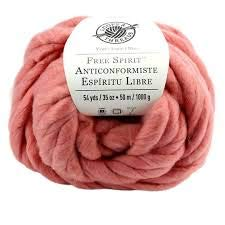 Free Spirit Chunky Yarn Dusty Rose Pink Jumbo