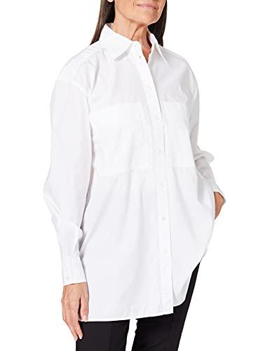 BOSS C_Benger Blusas, White100, 46 para Mujer