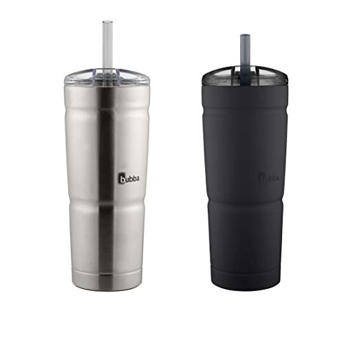 bubba Envy S Tumbler, 24 oz, Black and Stainless Steel, 2 Pack