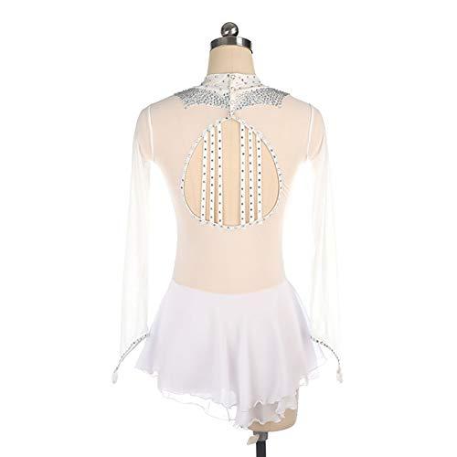 GXLO Eiskunstlaufanzug, Gymnastik-Trikots, für Mädchen langärmliges Farbverlauf Farbe funkeln funkeln tanzen Ballet Gymnastik athletisch,S