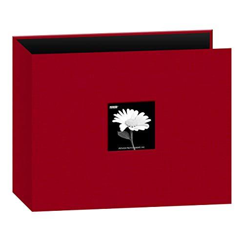 Pioneer Photo Albums 12x12 Fabric Frame 3-Ring Binder Scrapbook, Apple Red