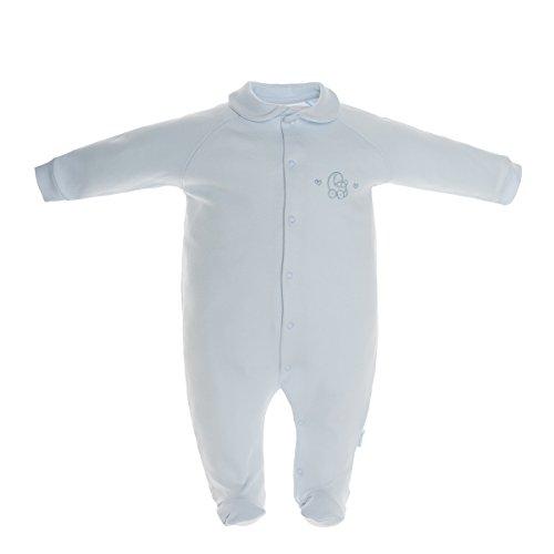 Cambrass 26097 - Pelele para recién Nacidos, Talla 68 cm (3 a 6 Meses), Color Celeste