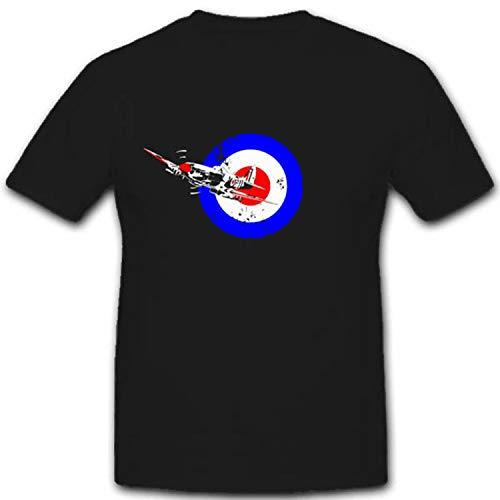 England Korkade Spitfire Flugzeug Zielscheibe Wh Wk- T Shirt #3578, Größe:4XL, Farbe:Schwarz