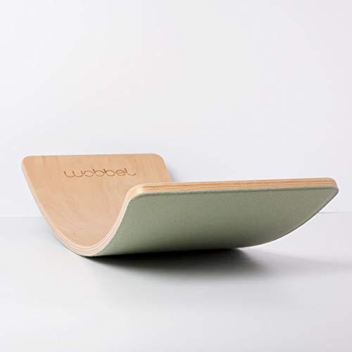 WOBBEL - Starter - Jeu d'équilibre en bois - Naturel/Vert