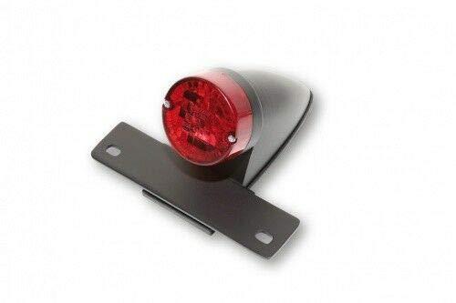 SHIN YO NEW SPARTO Chopper achterlicht met zwarte behuizing, kentekenplaathouder en kentekenplaatverlichting, rood glas