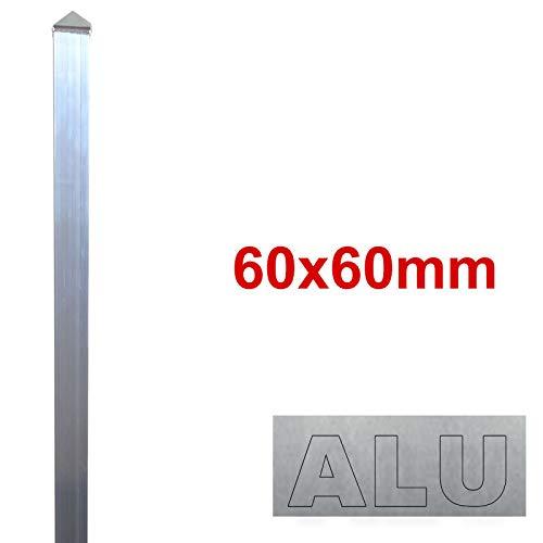 BAUER - Alu Zaun- Torpfosten zum Einbetonieren, 60x60x3mm, L = 1300mm