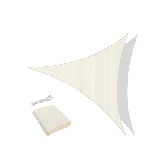 Traspirante e Protezione Raggi UV AXT SHADE Tenda a Vela Rettangolare 2 x 4m Giardino per Esterni Cortile Colore Beige