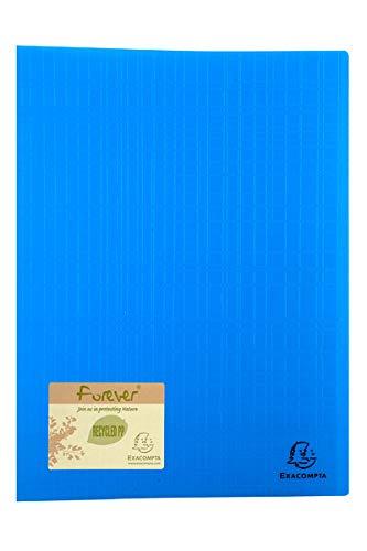 Exacompta 885570e Porte vues Forever couverture en polypro recyclé rigide effet texturé avec pochettes interieures lisse haute transparence 50 pochettes et 100 vues coloris aléatoire