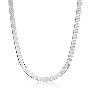 Amazon Collection Women's Herringbone Chain Necklace