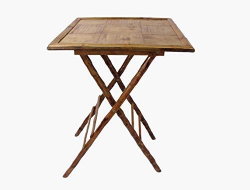 Mobiliario Factory Mesa de Bambú Plegable para Comedor, Jardín, Terraza, Bar o...