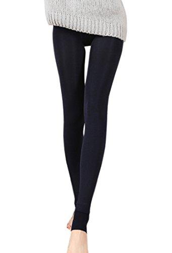 KaKing Damen Strumpfhose Winter Dicke Warme Leggings (eine größe, Schwarz)