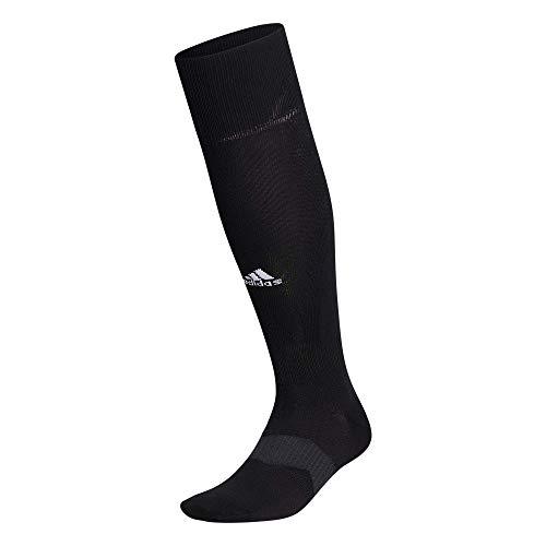 adidas unisex-adult Metro 5 Soccer Socks (1-Pair) , Black/Night Grey/White, Large