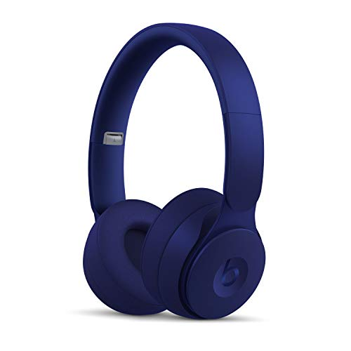 Casque Beats Solo Pro sans fil avec réduction du bruit - Puce Apple H1 pour casques et écouteurs, Bluetooth classe 1, mode Réduction active du bruit, mode Transparence, 22 heures d écoute - Bleu Foncé