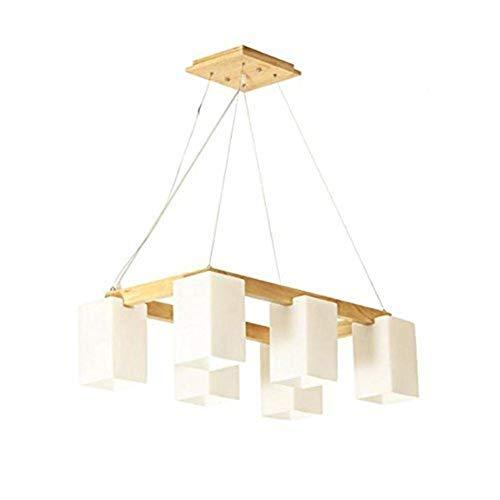 Jkckha Modern Lámparas colgantes Lámparas restaurante, Woody Sala de estar Luces de Registros y madera maciza llevó la iluminación de luces de la habitación Adecuado para dormitorio, sala de estar y e