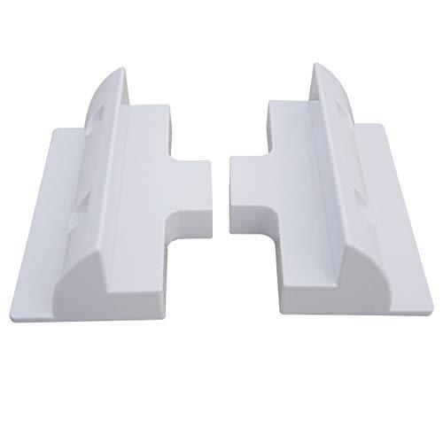 ECO-WORTHY Solarpanel, seitliche Montagehalterungen, weiß, für Wohnwagen, Wohnmobile, Boote, 2er-Set