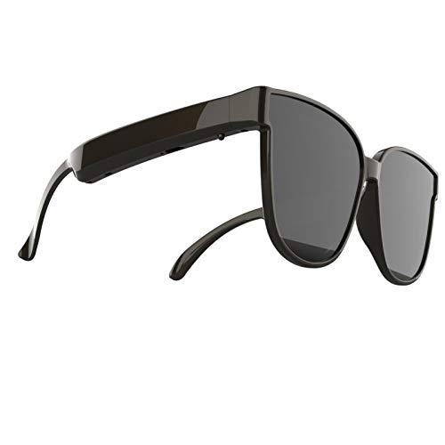 Shenrongtong Smart Audio - Gafas De Sol Bluetooth con Chip Bluetooth 5.0, Batería De 160 MA, Auriculares con Lente De Bricolaje, Gafas Inalámbricas, para Escuchar Música, Llamadas, Navegar (Negro)