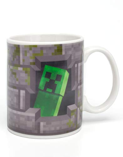Minecraft Creeper Inside 11oz / 312ml Wärme ändernde Keramik graue Tasse