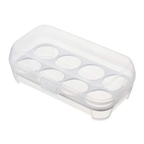 QFDM Flaschen, Gläser & Boxen 2 stücke 8 Eier Aufbewahrungsbox Kühlschrank Ei Halter Container Tragbare Eier Träger Für Camping Picknick (weiß) Lagerflasche