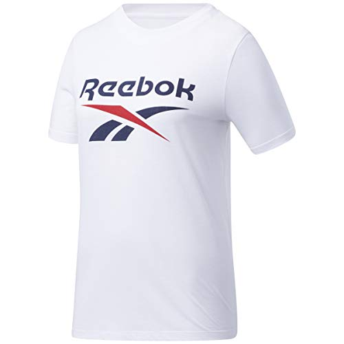 Reebok Identity Logo T-Shirt Damen weiß/blau, S