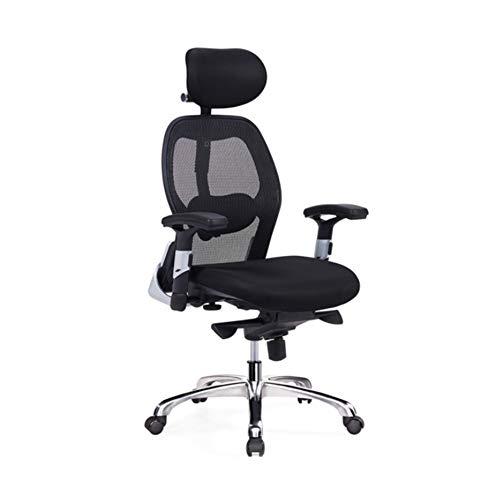 Silla giratoria para computadora de oficina, sillón reclinable para silla giratoria, cuero,Silla de oficina,Silla ergonómica moderna, silla de oficina de malla con respaldo alto, silla de computad