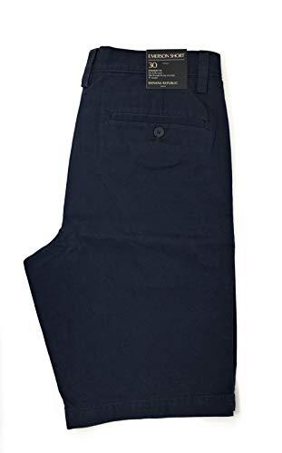 Banana Republic Emerson Herren Chino-Shorts mit Flacher Front - blau - 52