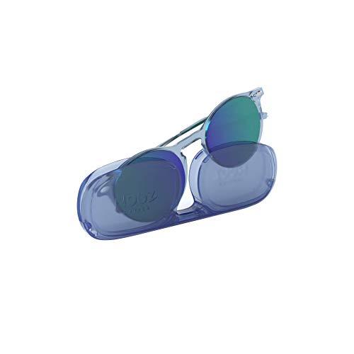 Nooz Gafas de sol polarizadas para hombre y mujer - Protección de categoría 3 - Color azul claro - con estuche compacto - Colección CRUZ