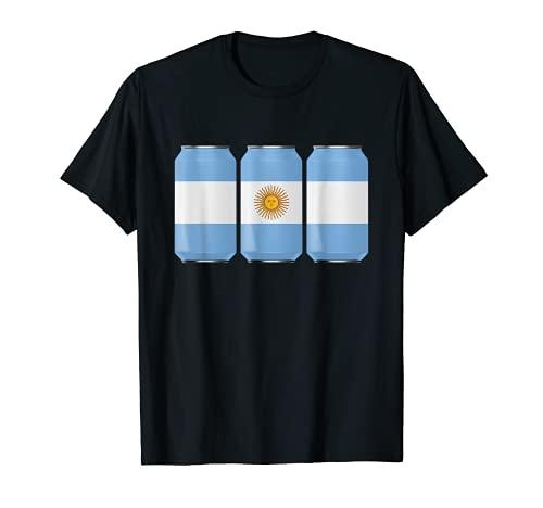 Patriotische Bier Dosen Argentinische Flagge W/Shirt