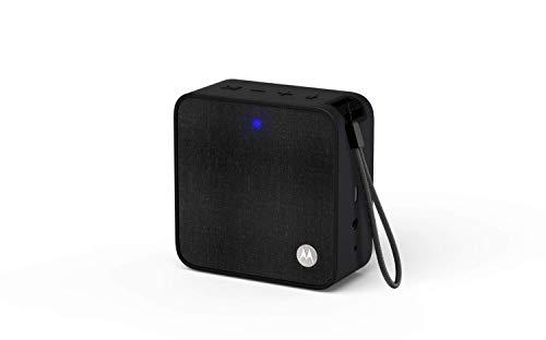 Motorola Sonic Boost210 - Wireless Bluetooth Lautsprecher - 3,5mm AUX, für Smartphone/Tablet/MP3 geräten - Mikrofon für Anrufe/Amazon Alexa/Siri/Google Assistant - Schwarz