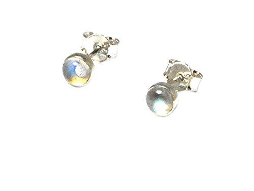 Pendientes de plata de ley 925 con piedra de luna de Art Gecko