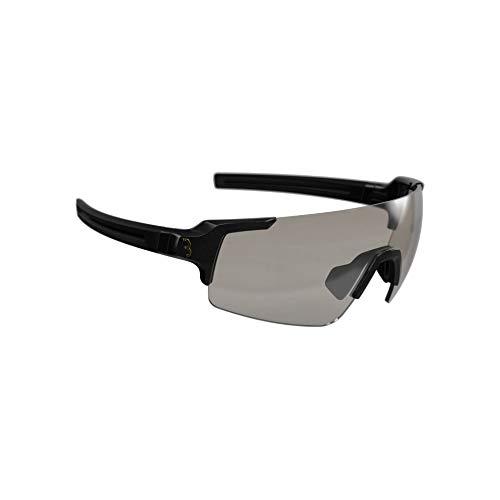 BBB Cycling Fahrradbrille FullView PH | Herren und Damen Sportbrille Sonnenbrille mit Photochromatic Gläser | Polycarbonat Grilamid | MTB Rennrad Urban Radsport | Glänzend Schwarz | BSG-63PH