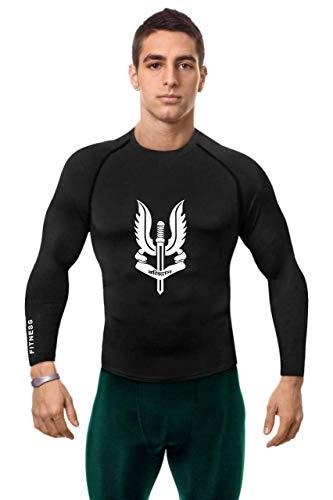 JUST RIDER Indian Army Logo balidan Active Wear Full Sleeve- T-Shirt (2XL) Black