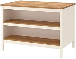Ikea Kitchen island, white, oak 1428.8112.106