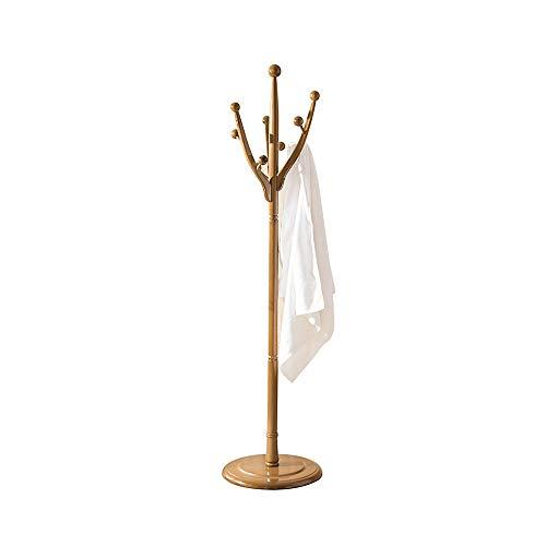 Unbekannt Feifei Tree Garderobenständer mit Kleiderhaken zum Aufhängen von Kleidung und Hut Massivholzmöbel - Nussbaum Farbe 172cm H