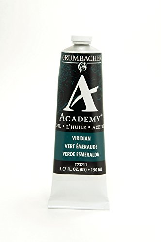 Grumbacher Academy Oil Paint, 150 ml/5.07 oz, Viridian Hue