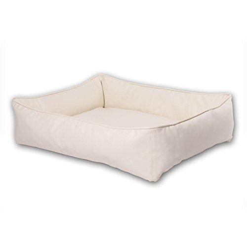 dibea Letto per cani cuccia per cani pelle sintetica nappa divano cani (S) 65x50 cm Beige