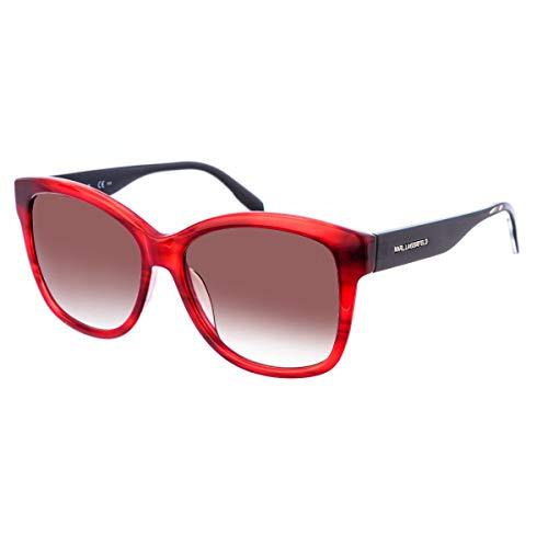 Karl Lagerfeld Sonnenbrille KL909S Rechteckig Sonnenbrille 56, Rot