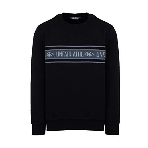 Unfair Athletics Athletics Striped Sweatshirt Herren schwarz/grau, XXL